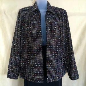 Like New Sag Harbor Zip Front Blazer/Jacket